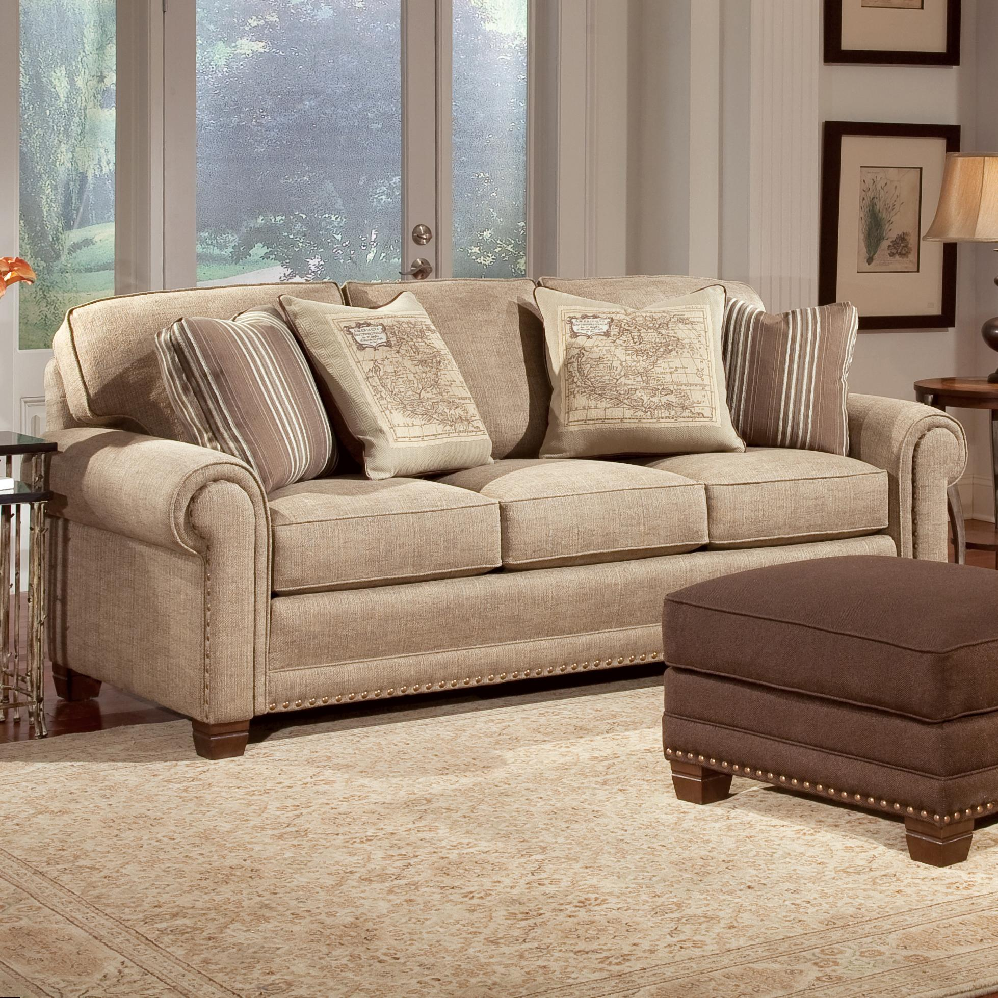 Smith Brothers 393 Traditional Stationary Sofa - Item Number: 393-10