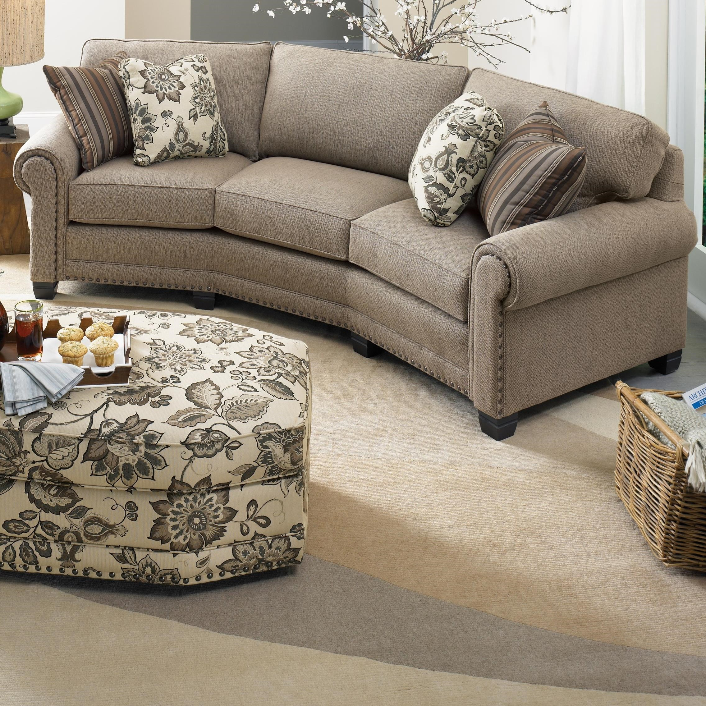 393 Conversation Sofa by Smith Brothers at Gill Brothers Furniture