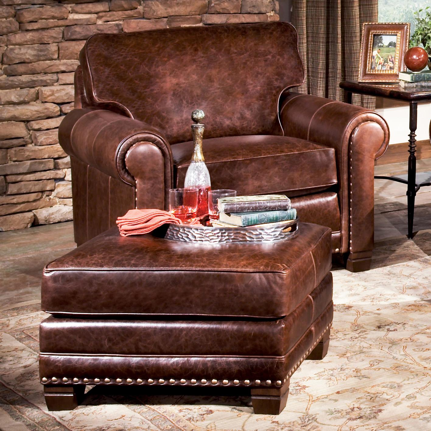 393 Traditional Chair and Ottoman by Smith Brothers at Westrich Furniture & Appliances