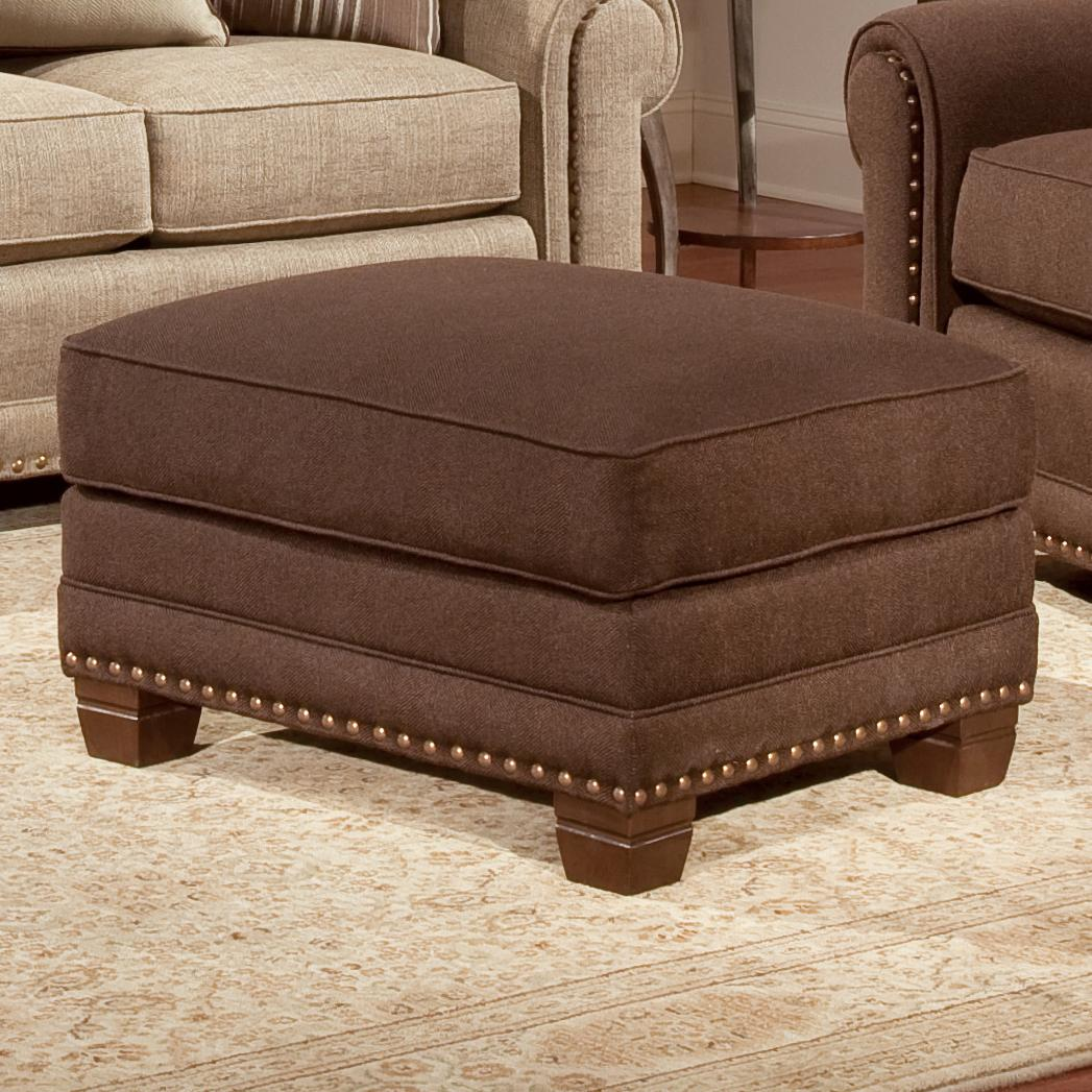 393 Traditional Ottoman by Smith Brothers at Gill Brothers Furniture