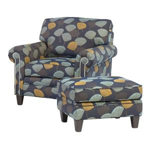 Smith Brothers 395 Style Group Chair and Ottoman