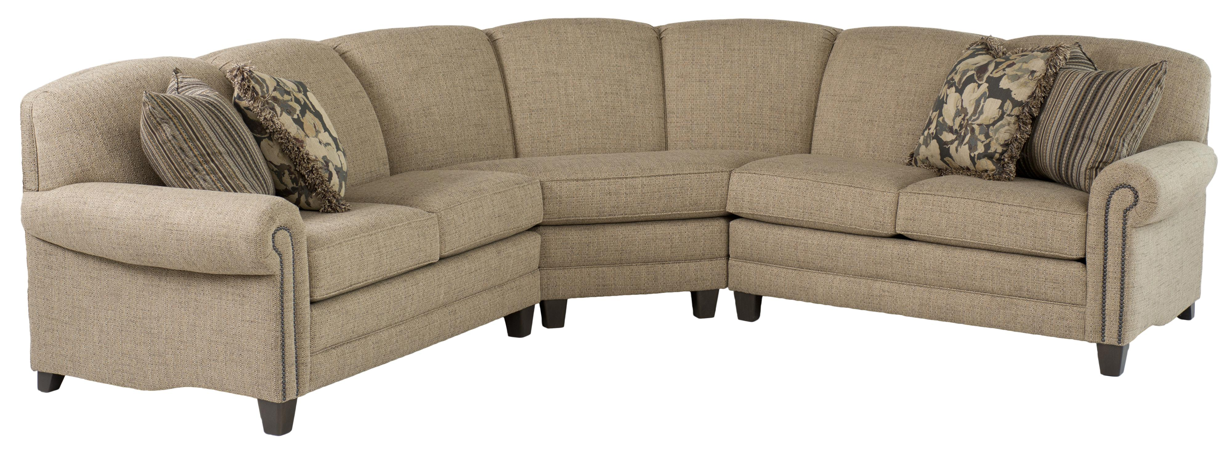 Smith Brothers 397 Stationary Sectional - Item Number: 397-24+53+25