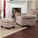 Smith Brothers 397 Chair and Ottman - Item Number: 397-30+40