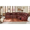 Peter Lorentz 413 Casual Motorized Reclining Sectional Sofa with Storage Console