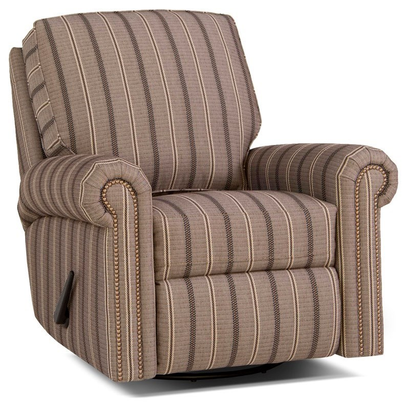 416 Swivel Glider Reclining Chair by Smith Brothers at Saugerties Furniture Mart