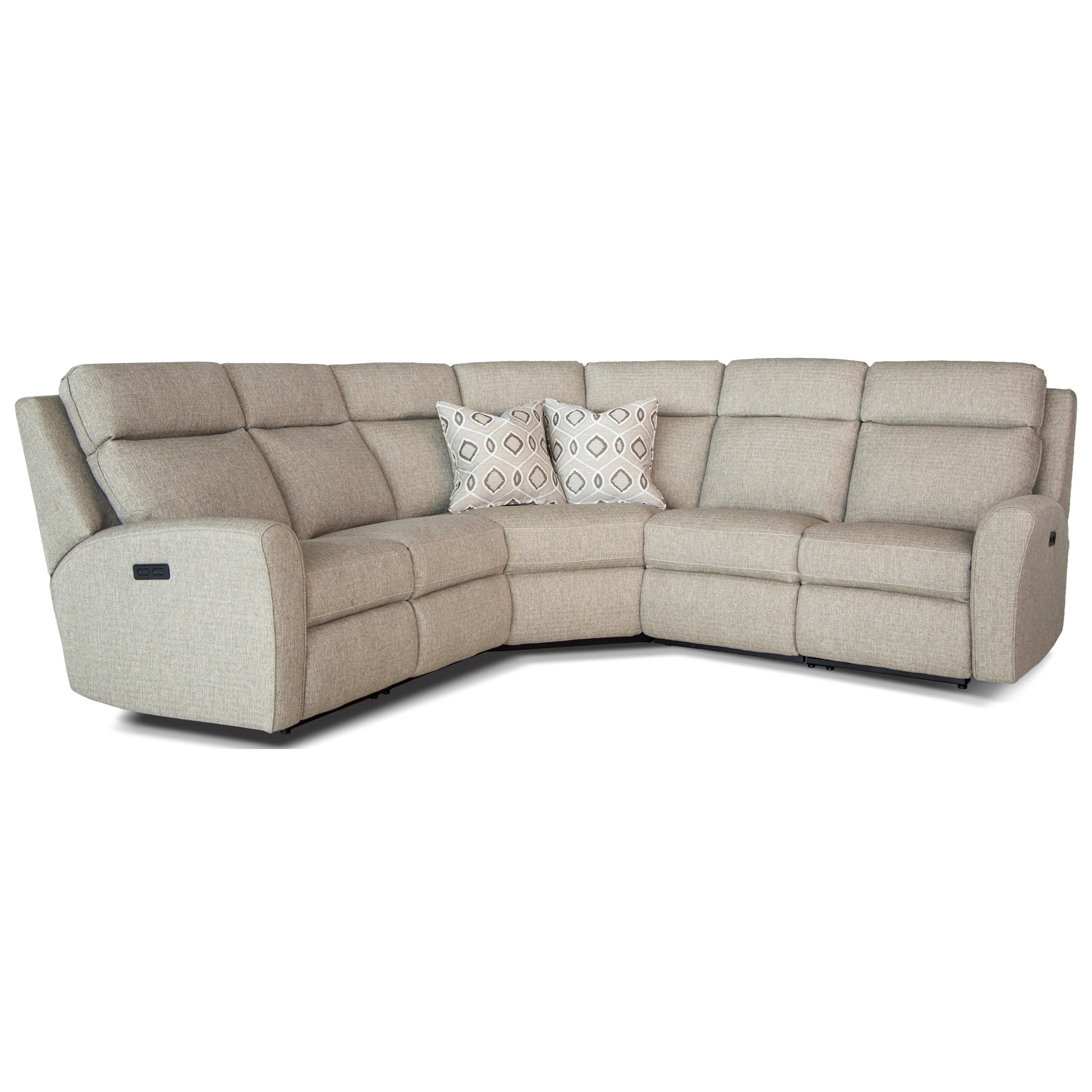 418 Motorized Reclining Sectional Sofa by Smith Brothers at Pilgrim Furniture City