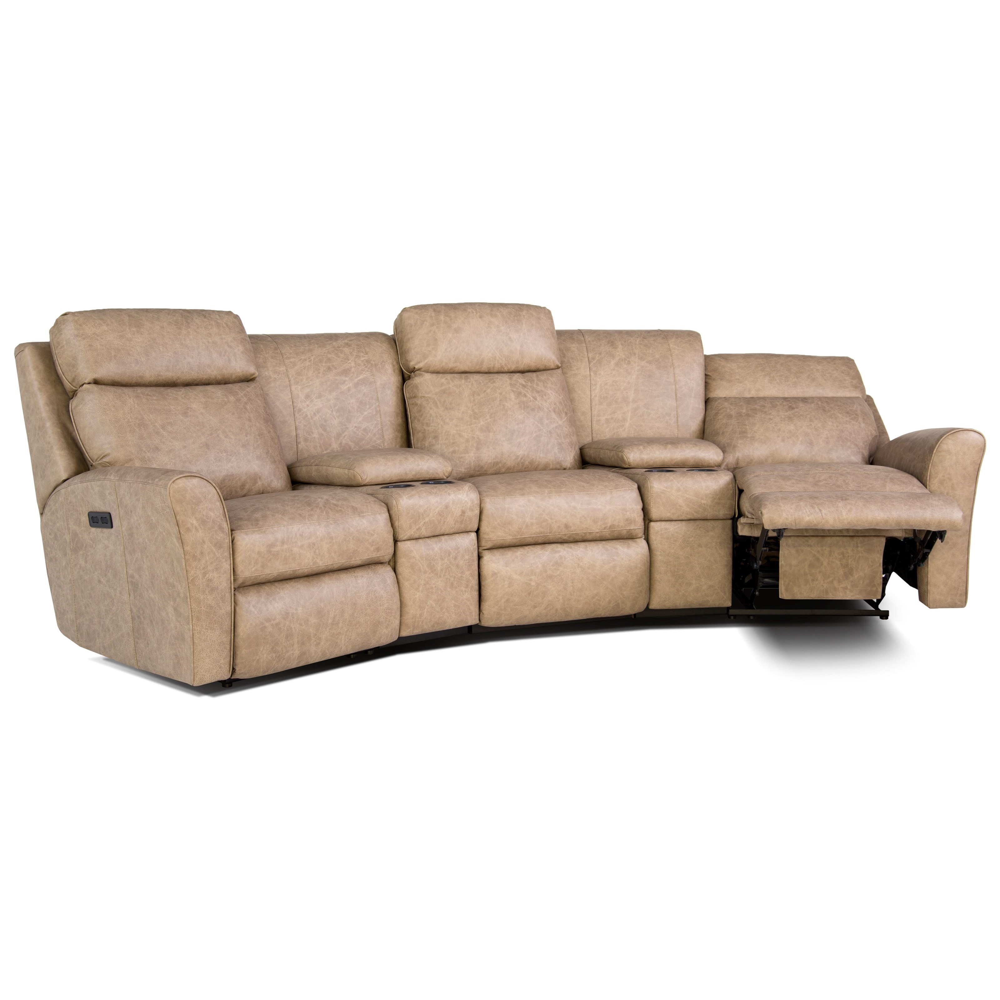 Smith Brothers 418 Casual Motorized Reclining Conversation