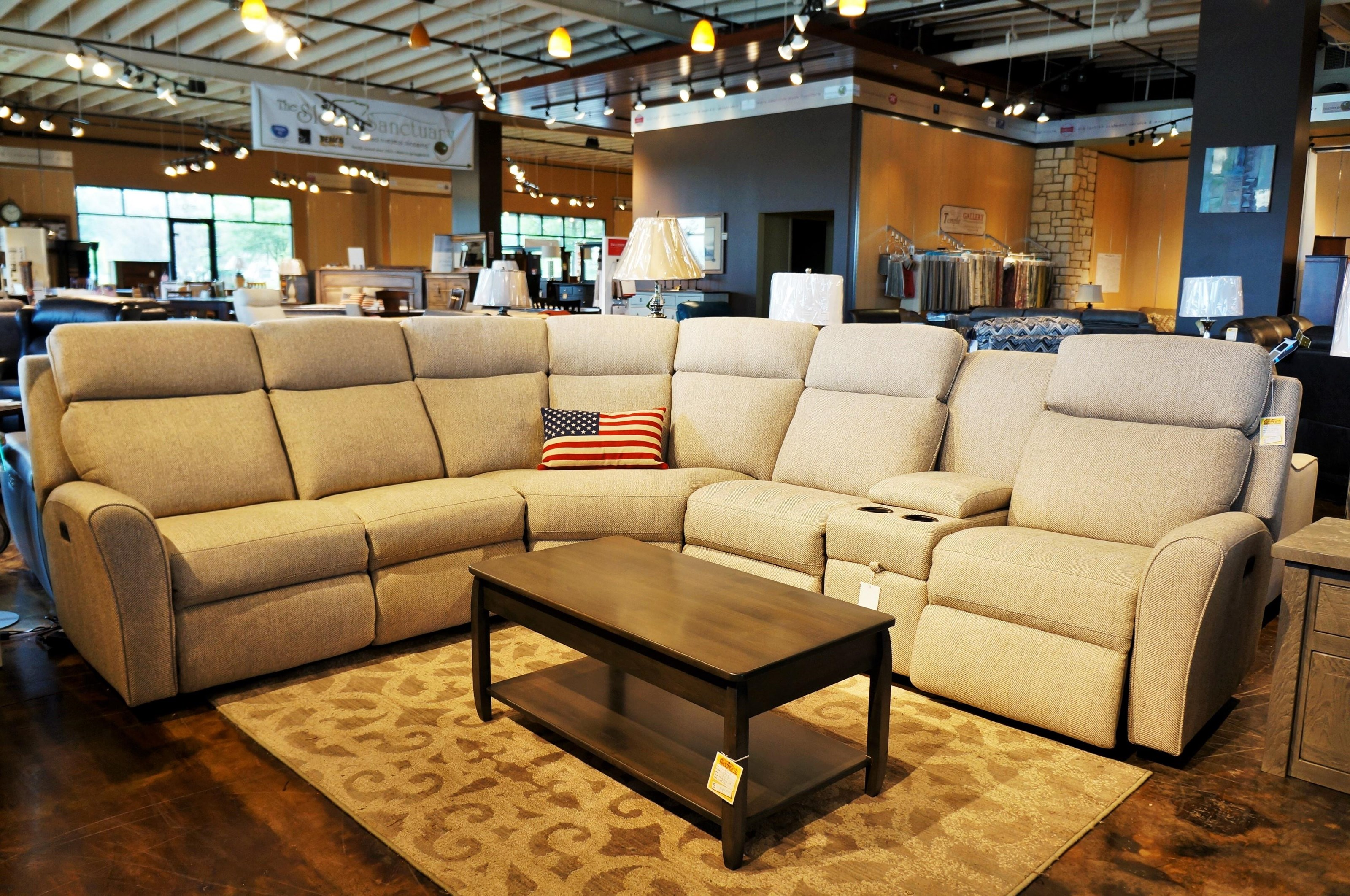 418 Motorized Reclining Sectional Sofa by Smith Brothers at Mueller Furniture