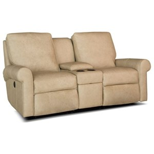 Smith Brothers 421 Reclining Console Loveseat