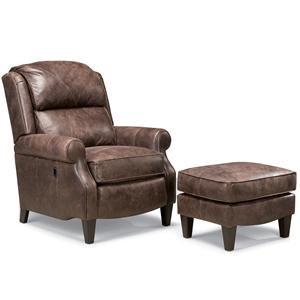 Smith Brothers 503L Chair and Ottoman Set
