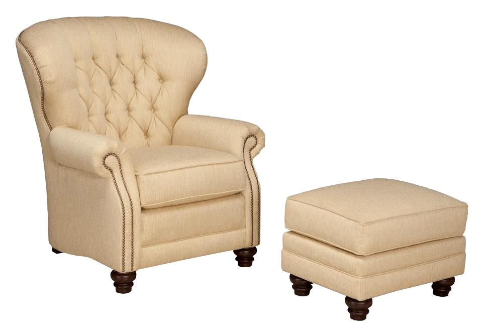 Smith Brothers 522 Pressback Recliner With Tufted Seat