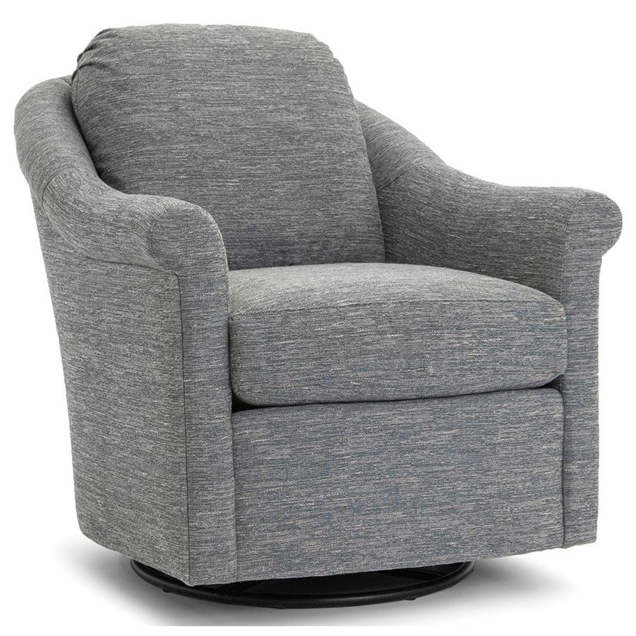 534 Upholstered Swivel Chair by Smith Brothers at Gill Brothers Furniture