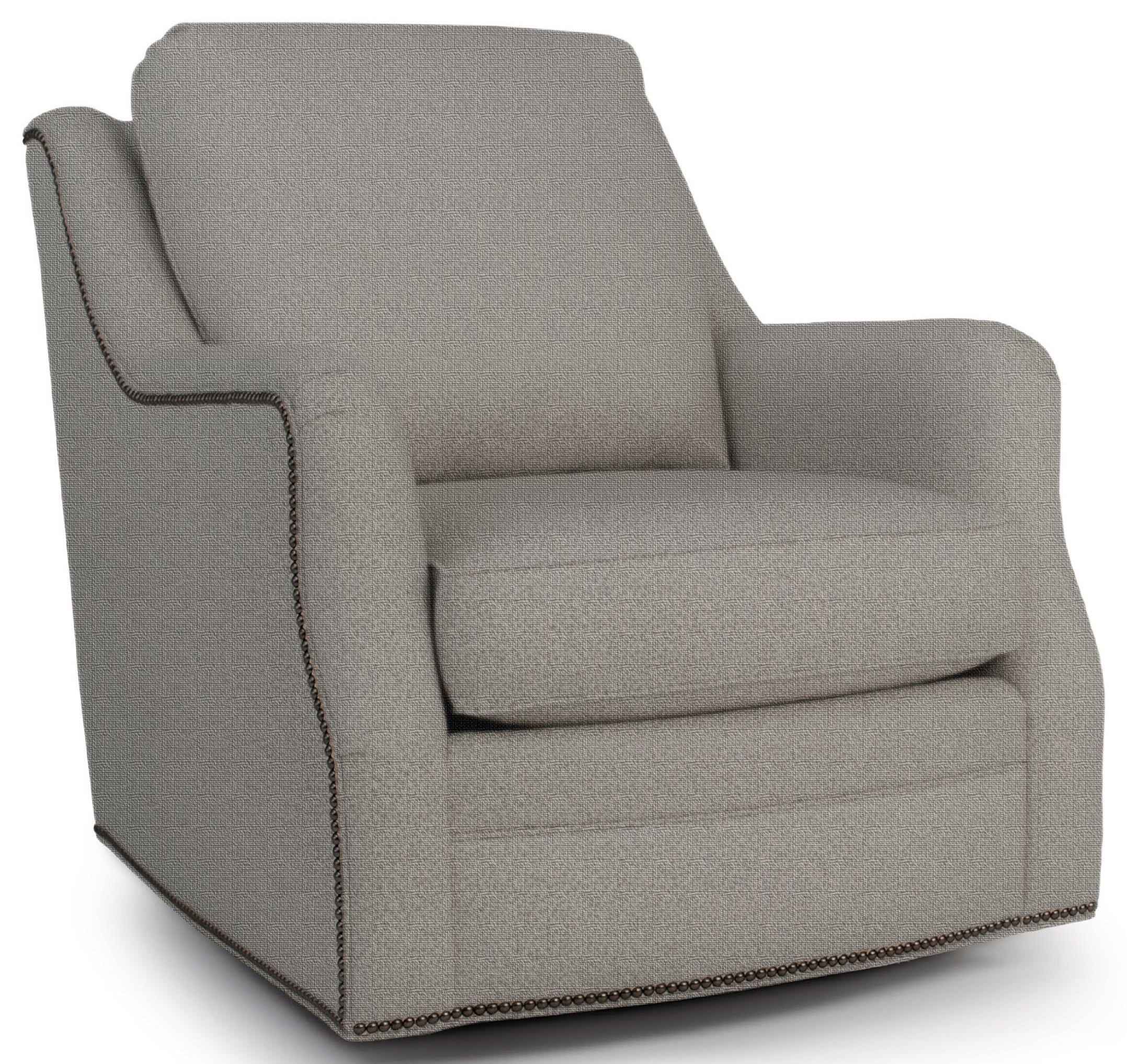563 Swivel Glider Chair by Smith Brothers at Johnny Janosik