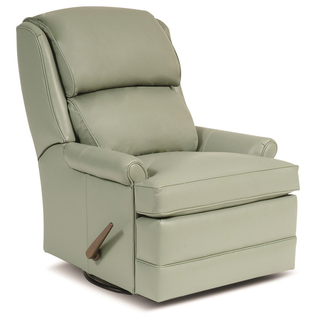 707 Swivel Glider Recliner by Smith Brothers at Sprintz Furniture