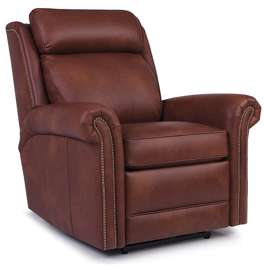 737 Power Swivel Glider Recliner by Smith Brothers at Sprintz Furniture