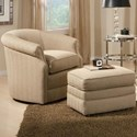 Smith Brothers 820 Swivel Chair and Ottoman Set - Item Number: 820-56+40-297807