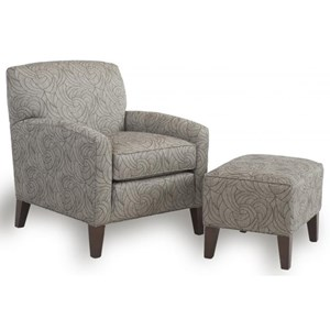 Smith Brothers 822 Chair and Ottoman Set