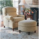 Smith Brothers 932 D Shaped Ottoman - Shown with Coordinating Tilt-Back Chair