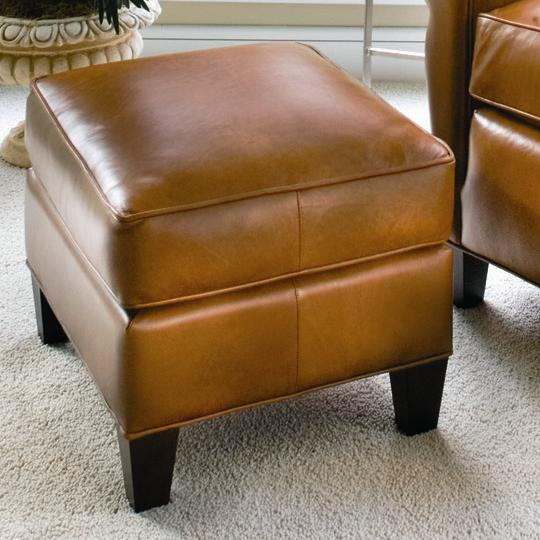 933 Upholstered Ottoman by Smith Brothers at Mueller Furniture