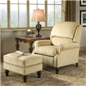 Peter Lorentz 950 Tilt Back Rolled Arm Chair - Shown with Coordinating Ottoman