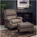 Smith Brothers 951 Tilt Back Chair & Ottoman - Item Number: 951 C+OTTO