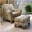 Smith Brothers 966 Tilt-Back Chair & Ottoman Set - Item Number: 966C+966O