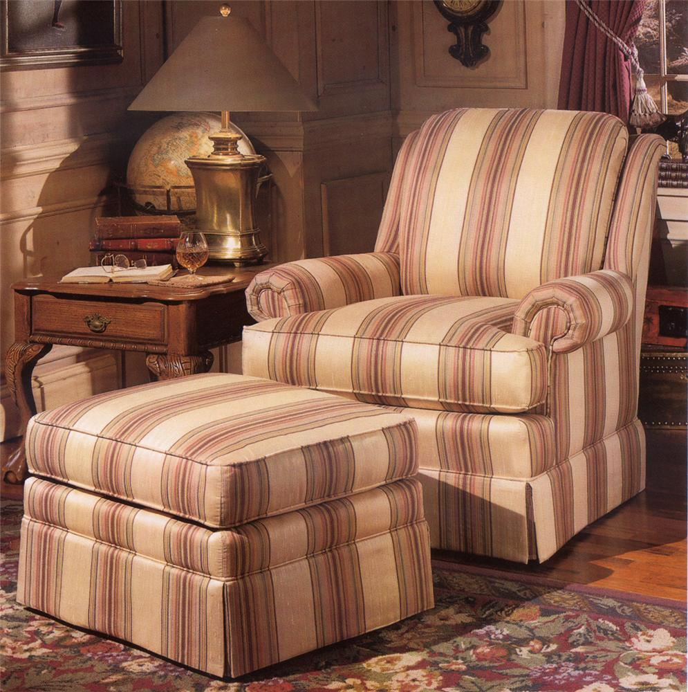 971 Upholstered Chair & Ottoman by Smith Brothers at Mueller Furniture