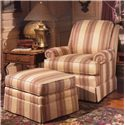 Smith Brothers 971 Upholstered Chair & Ottoman - Item Number: 971-OT+C