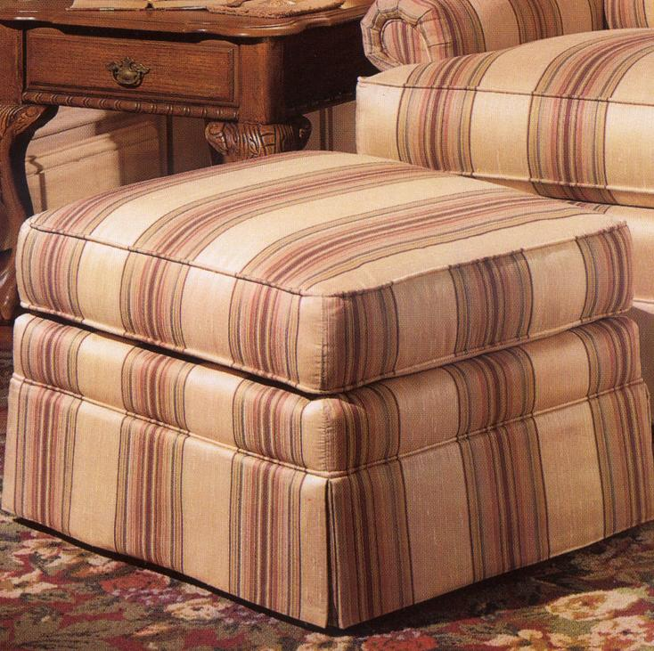 971 Upholstered Ottoman by Smith Brothers at Gill Brothers Furniture
