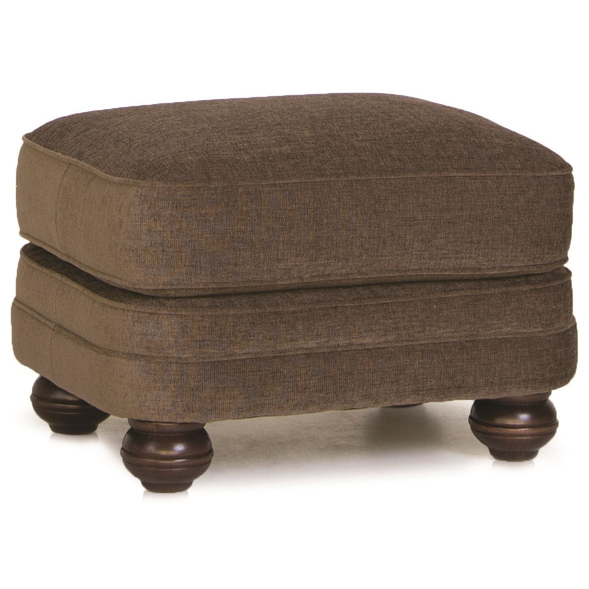 988 Upholstered Ottoman by Smith Brothers at Mueller Furniture