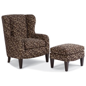Smith Brothers 994 Upholstered Chair & Ottoman