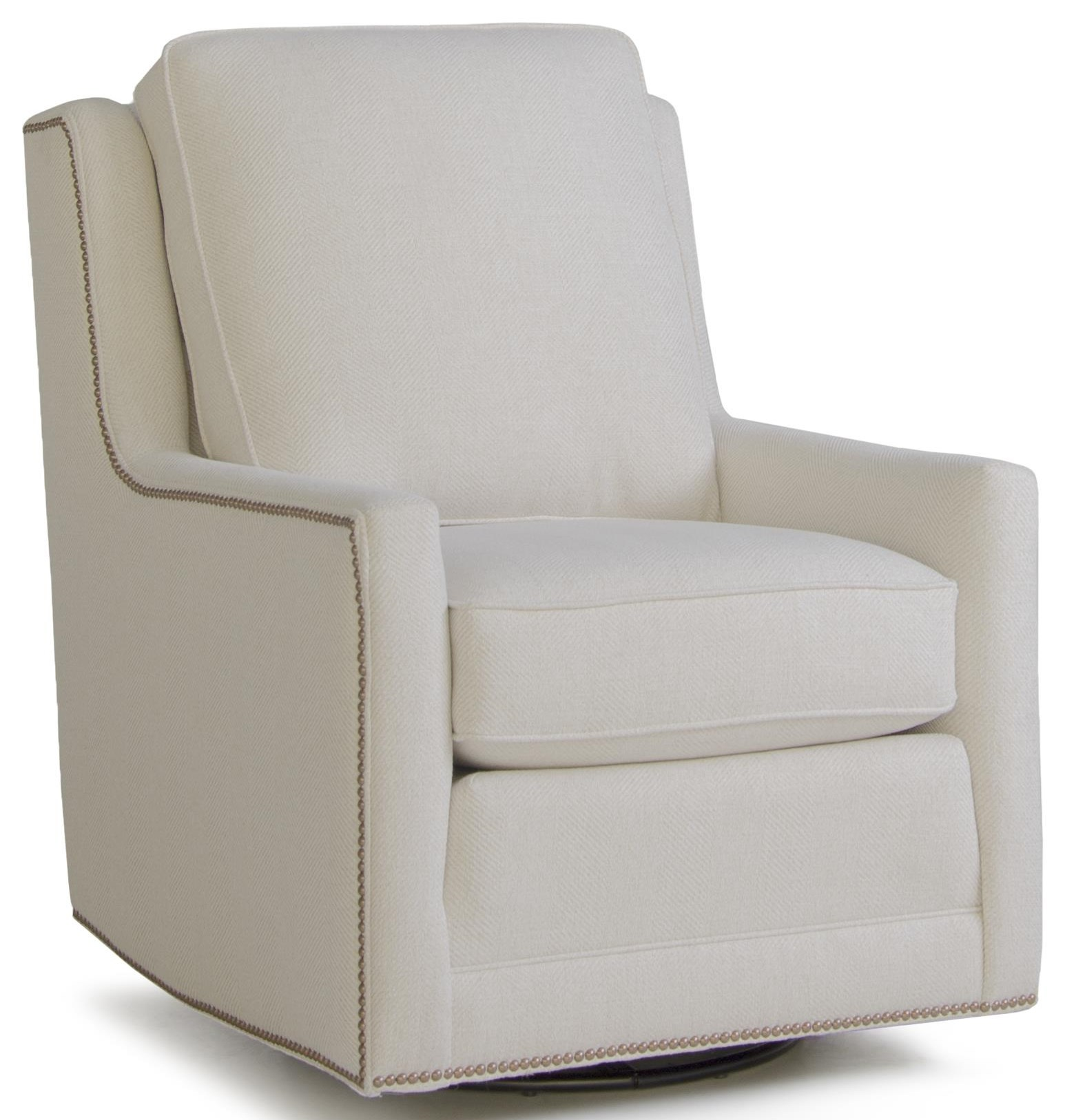 Atwell Swivel Chair by Smith Brothers at Crowley Furniture & Mattress