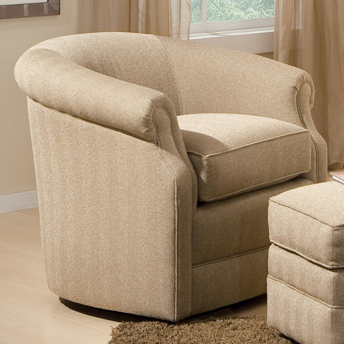 Accent Chairs and Ottomans SB Barrel Swivel Chair by Smith Brothers at Mueller Furniture