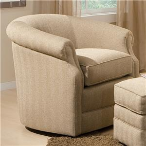Smith Brothers Accent Chairs and Ottomans SB Barrel Swivel Chair