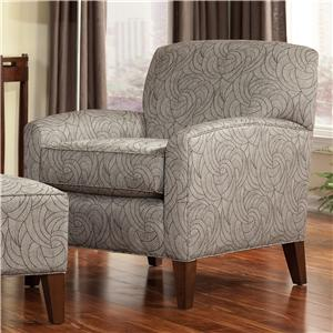 Smith Brothers Accent Chairs and Ottomans SB Contemporary Stationary Chair