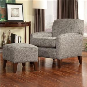 Smith Brothers Accent Chairs and Ottomans SB Contemporary Chair and Ottoman