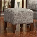Smith Brothers Accent Chairs and Ottomans SB Contemporary Chair and Ottoman with Tapered Wood Legs - Ottoman
