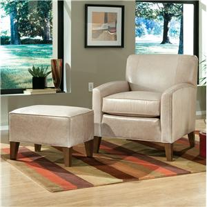 Peter Lorentz Accent Chairs and Ottomans SB Contemporary Chair and Ottoman