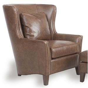 Smith Brothers Accent Chairs and Ottomans SB Upholstered Wingback Chair