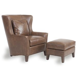 Peter Lorentz Accent Chairs and Ottomans SB Wingback Chair and Ottoman