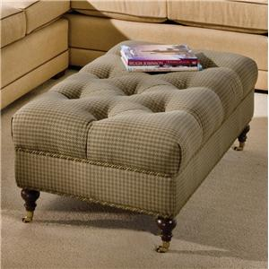 Smith Brothers Accent Chairs and Ottomans SB Tufted Ottoman