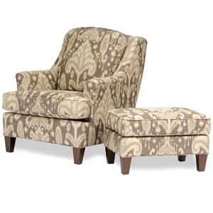 Smith Brothers Accent Chairs and Ottomans SB Chair & Ottomans