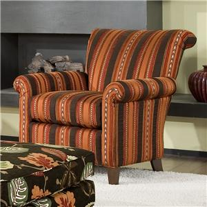 Smith Brothers Accent Chairs and Ottomans SB Transitional Stationary Chair