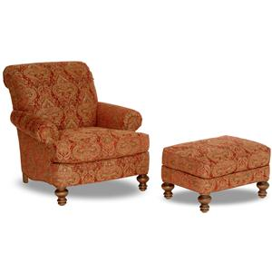 Smith Brothers Accent Chairs and Ottomans SB Chair & Ottoman