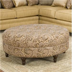 Smith Brothers Accent Chairs and Ottomans SB Round Ottoman
