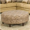 Smith Brothers Accent Chairs and Ottomans SB Round Ottoman - Item Number: 998 O