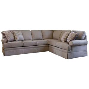 Smith Brothers Build Your Own (5000 Series) Sectional with Skirt and Rolled Arms