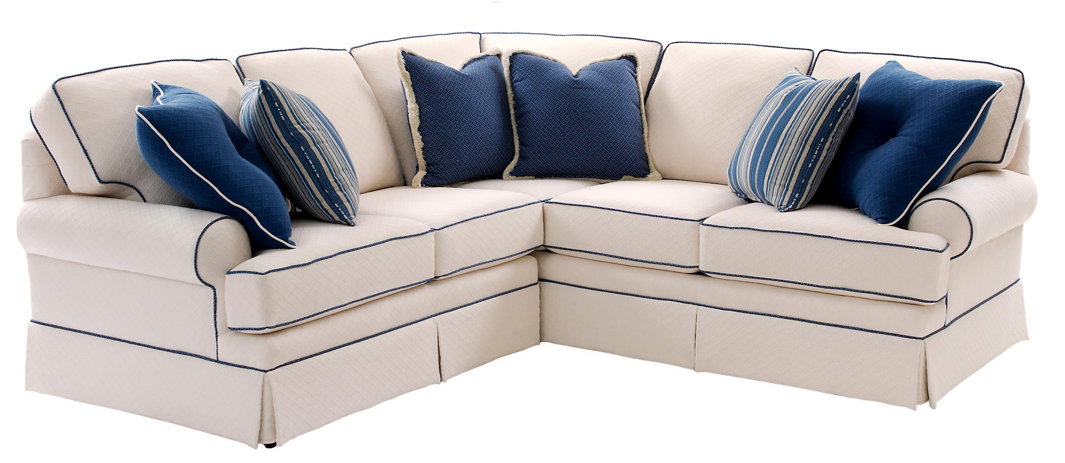 Smith Brothers Build Your Own 5000 Series Sectional Sofa With Rolled Arms And Skirt Dunk Bright Furniture Sofas