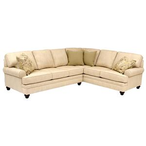 Smith Brothers Build Your Own (5000 Series) Sectional with Turned Legs & Sock Arms