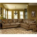 Smith Brothers Build Your Own (5000 Series) Leather Sectional with Panel Arm  - Item Number: 5221 Sectional